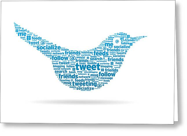 Words - Tweet Greeting Card by Aged Pixel
