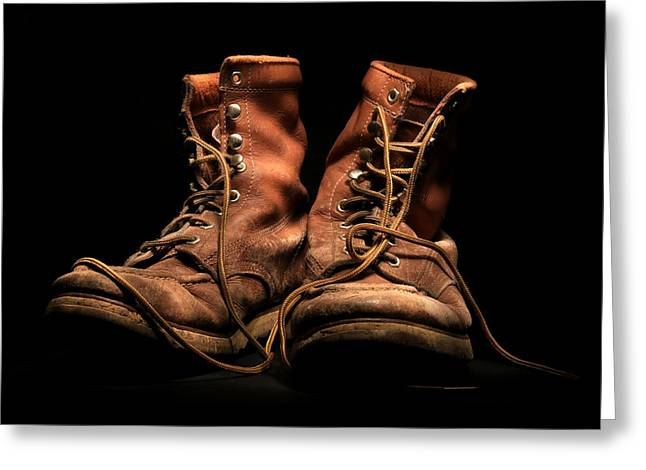 Work Boots Greeting Card by Christopher McKenzie
