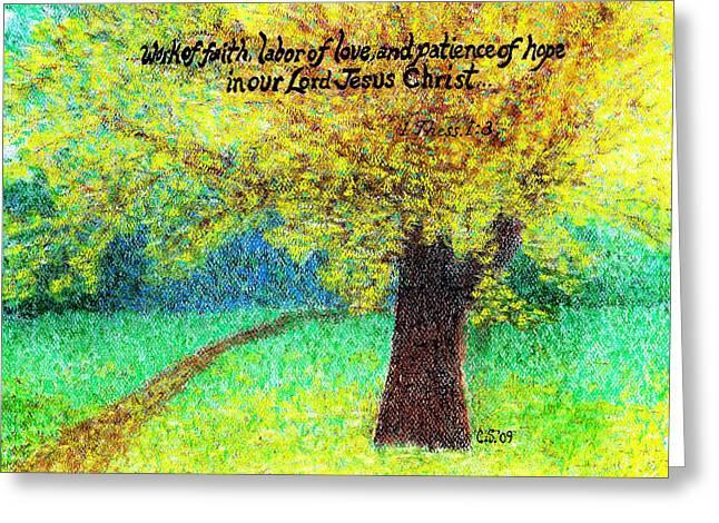 Work Of Faith Greeting Card by Catherine Saldana