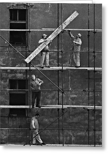 Workers 2 Greeting Card