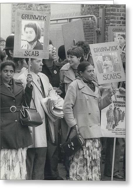 Workers At The Grunwick Laboratories Offered Council Houses Greeting Card by Retro Images Archive