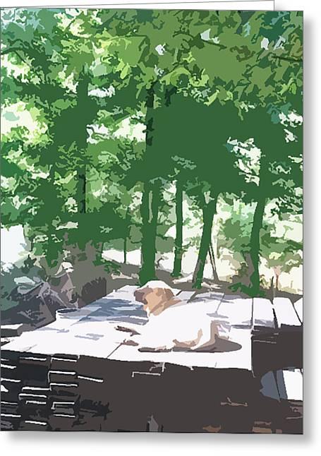 Working Dog Greeting Card by Tanya Sorth