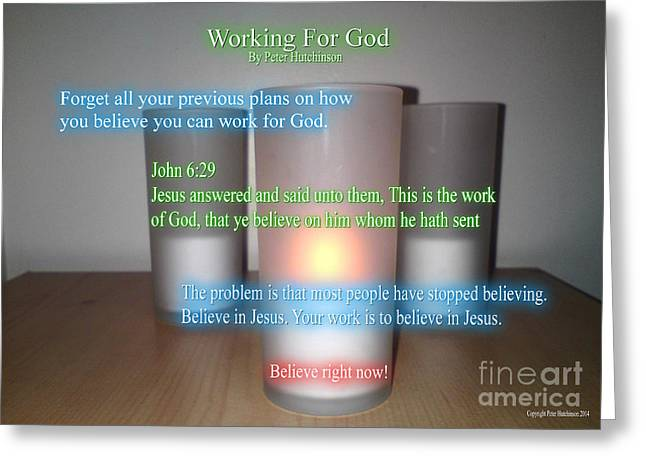 Working For God Greeting Card