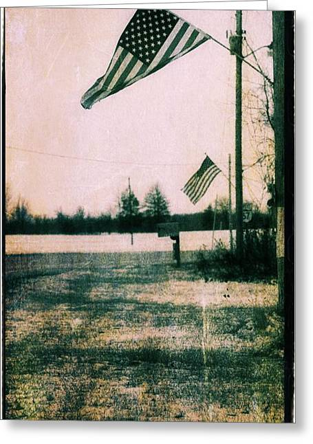 Working Man Patriot Greeting Card by Dan Sproul