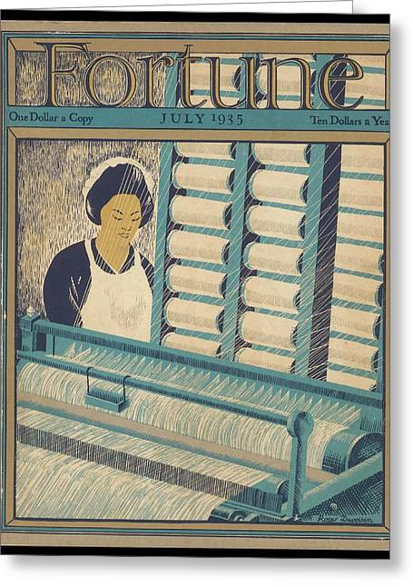 Working On A Cotton Loom          Date Greeting Card by Mary Evans Picture Library