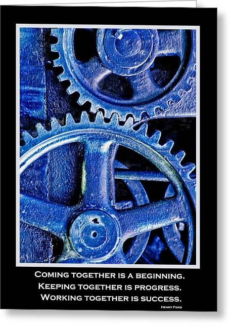 Working Together Greeting Card by David and Carol Kelly