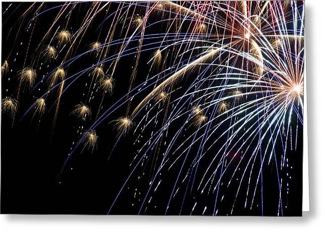Works Of Fire Vi Greeting Card by Ricky Barnard