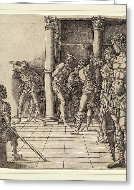 Workshop Of Andrea Mantegna Or Attributed To Zoan Andrea Greeting Card by Litz Collection