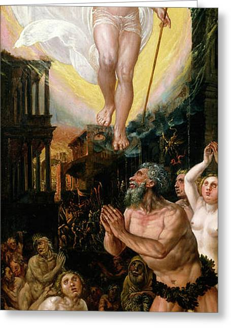 Workshop Of Hans Mielich, Christ In Limbo Greeting Card by Litz Collection