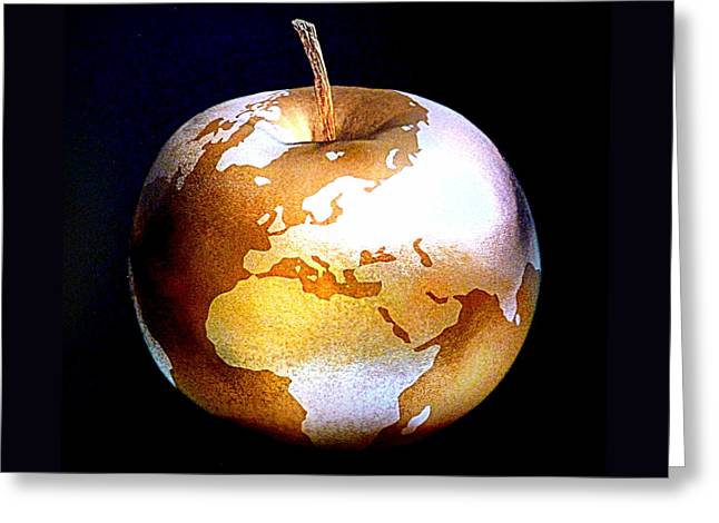 World Apple Greeting Card by The Creative Minds Art and Photography