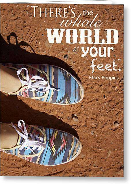 World At Your Feet Greeting Card by Bailey Barry