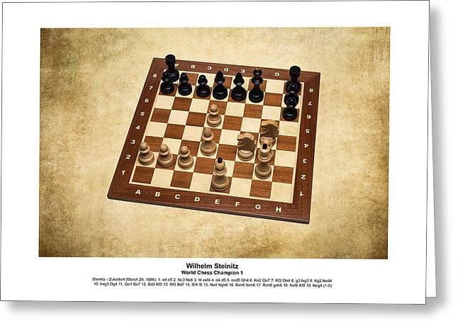 World Chess Champions - Wilhelm Steinitz - 1 Greeting Card by Alexander Senin