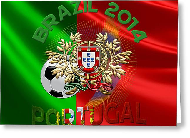 World Cup 2014 - Team Portugal Greeting Card