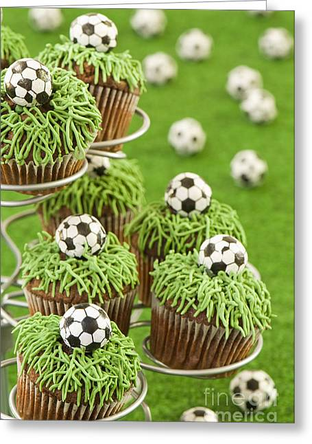World Cup Cupcakes Greeting Card by Amanda Elwell