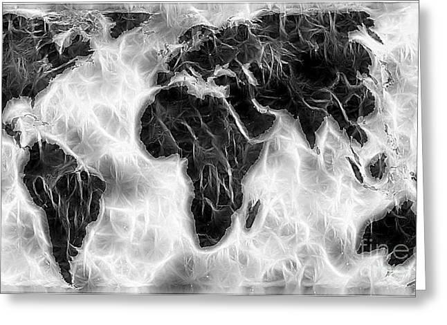 World Impressions - Cyclonic World Greeting Card
