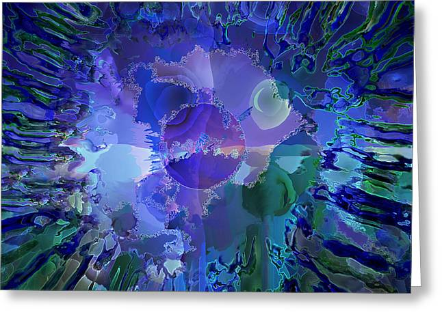 Greeting Card featuring the digital art World In A Cell by Ursula Freer