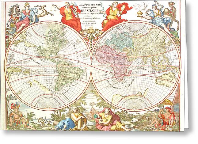 World Map C1694 Greeting Card