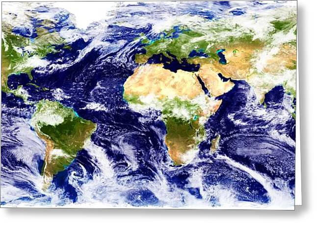 World Map Greeting Card by Chris Knorr