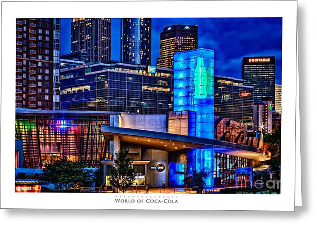 World Of Coca Cola Poster Greeting Card
