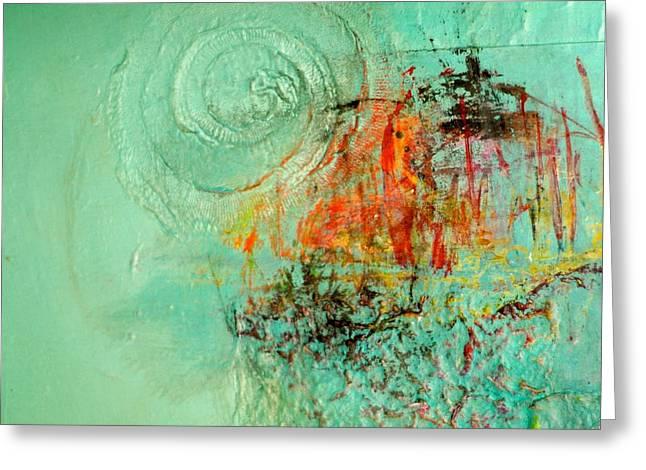 World Of Swirl Greeting Card by Lisa Schafer