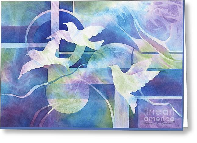 World Peace Greeting Card by Deborah Ronglien