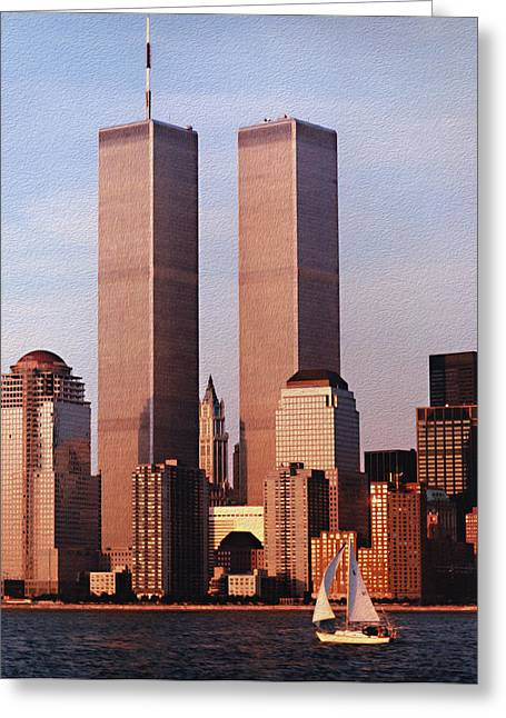 World Trade Center 1999 Greeting Card