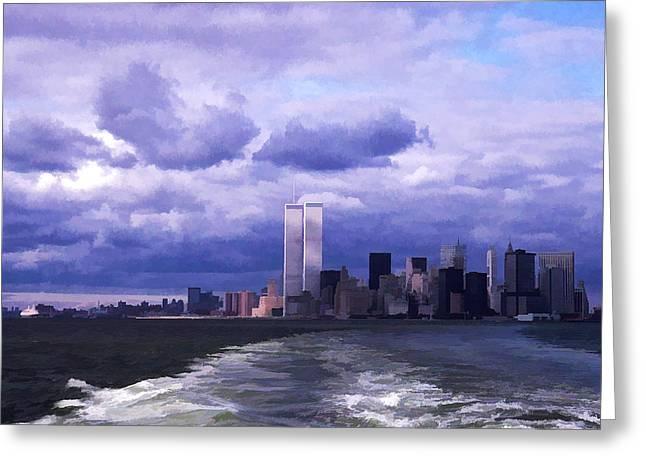 World Trade Center 7 Greeting Card by Allen Beatty
