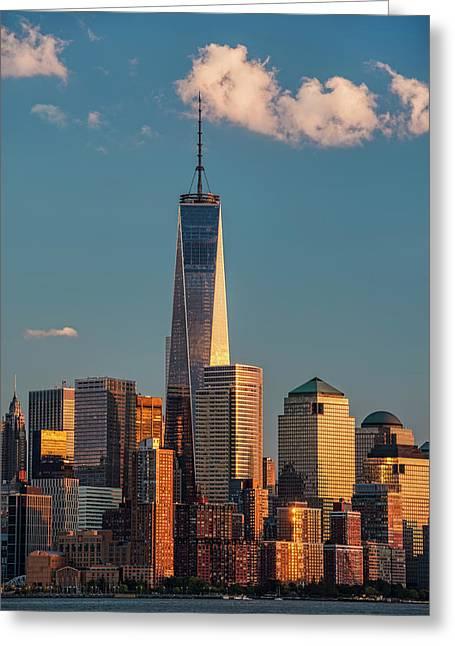 World Trade Center And Lower Manhattan Greeting Card