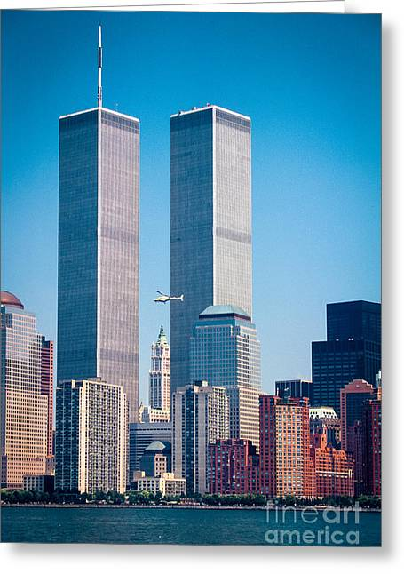 World Trade Center Greeting Card by Inge Johnsson