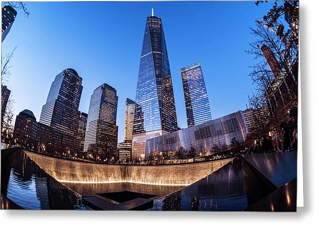 World Trade Center Memorial Greeting Card by F. M. Kearney
