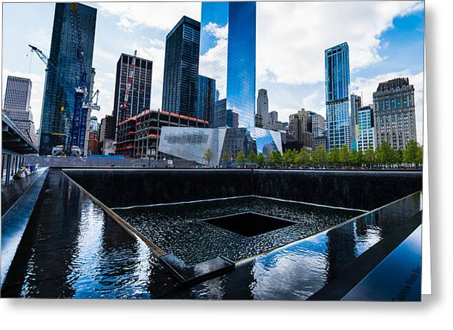 World Trade Center - North Memorial Pool Greeting Card