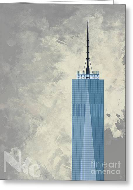 World Trade Center One Greeting Card by Nishanth Gopinathan