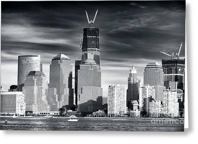 World Trade Center Rebirth Greeting Card by John Rizzuto