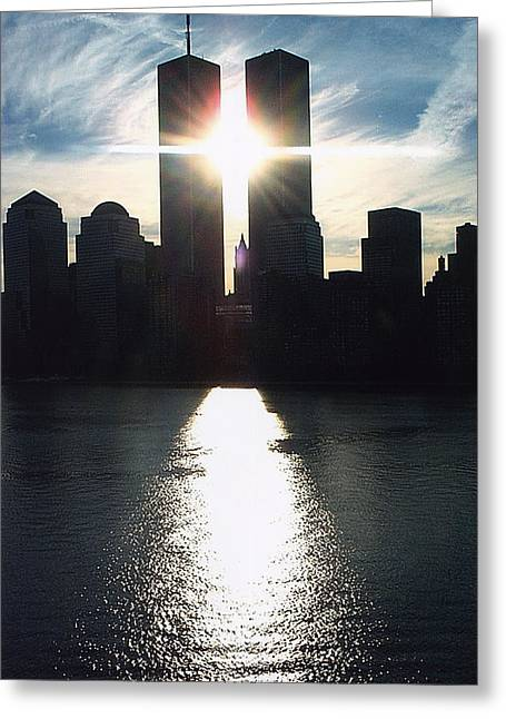 World Trade Center Towers Greeting Card