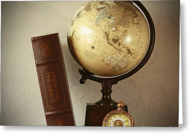 World Travel And Vintage Moments Greeting Card by Inspired Nature Photography Fine Art Photography