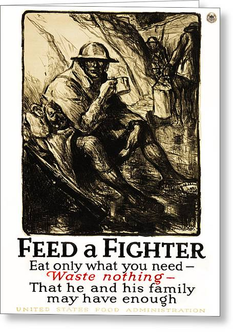 World War 1 - U. S. War Poster Greeting Card