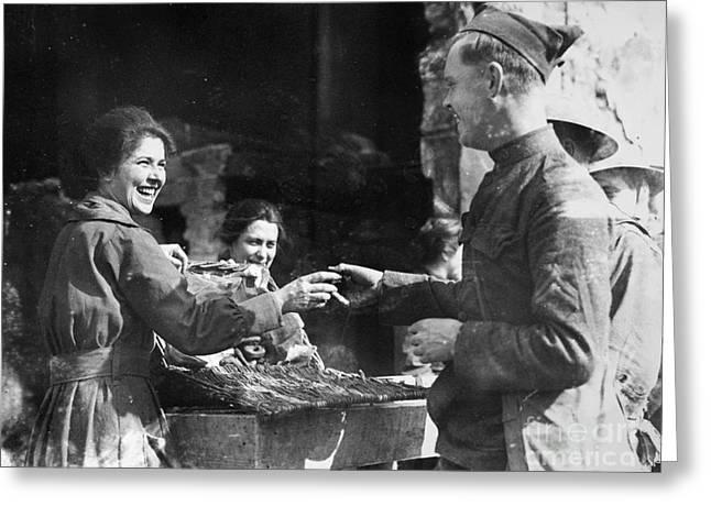 World War I - Infantryman Greeting Card by Granger