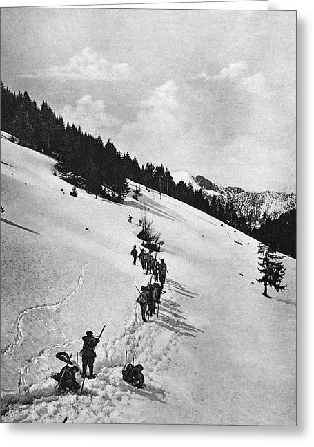 World War I Chasseur Greeting Card by Granger