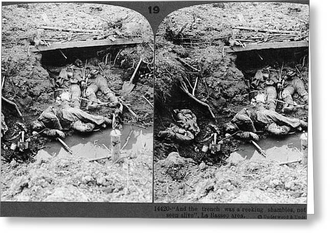 World War I Dead Soldiers Greeting Card by Granger