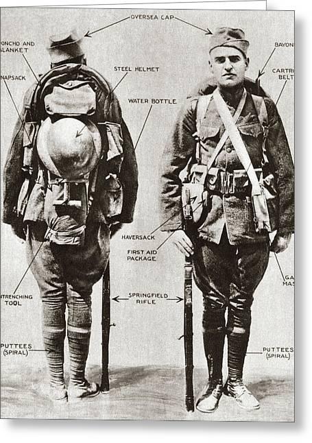 World War I Equipment Greeting Card