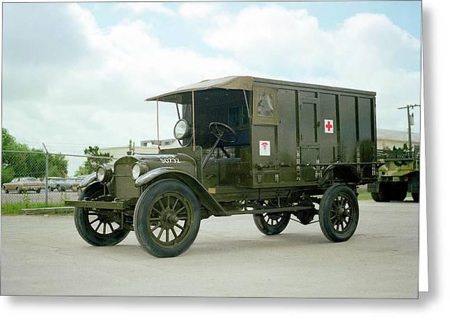 World War I Field Ambulance Greeting Card
