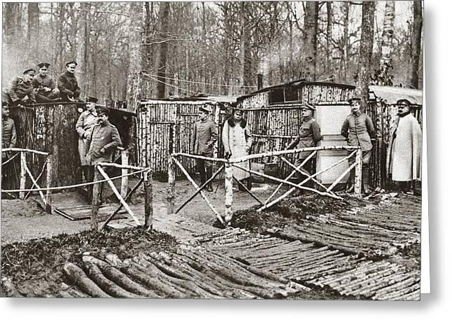 World War I German Camp Greeting Card by Granger