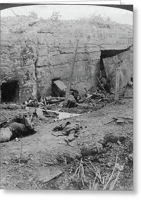 World War I German Dead Greeting Card by Granger