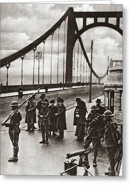 World War I Guard, C1918 Greeting Card by Granger