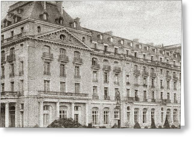 World War I Hotel Trianon Greeting Card by Granger