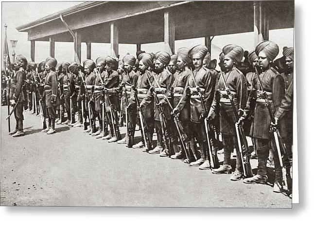 World War I Indian Troops Greeting Card