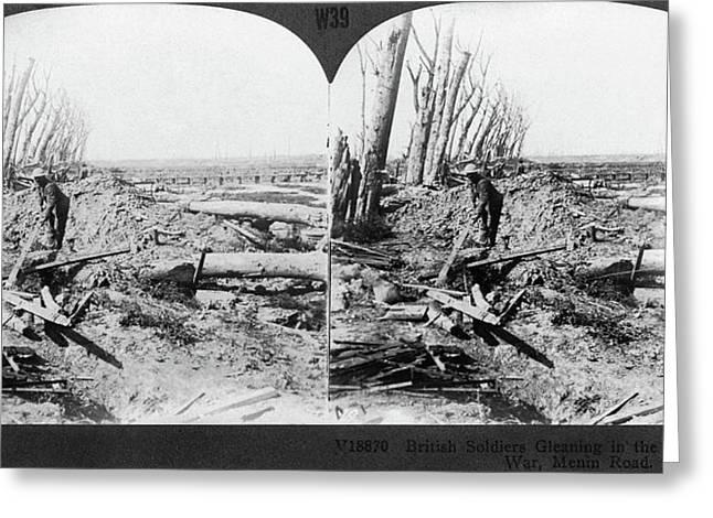 World War I Menin Road Greeting Card by Granger