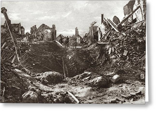 World War I Mine Crater Greeting Card by Granger