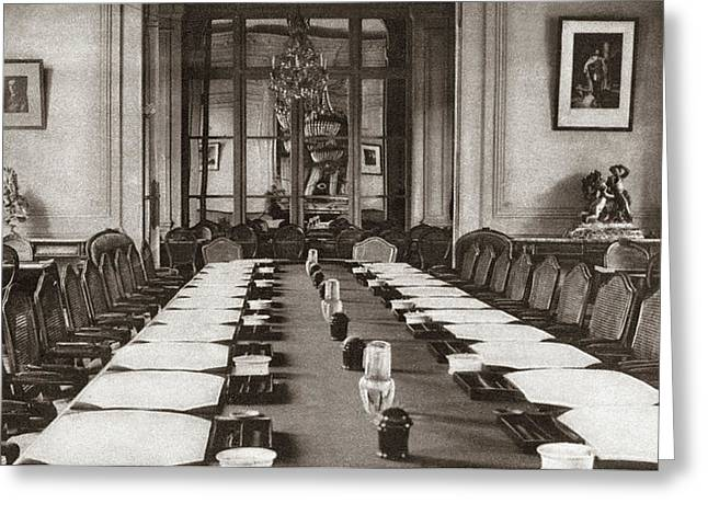 World War I Trianon Hotel Greeting Card by Granger