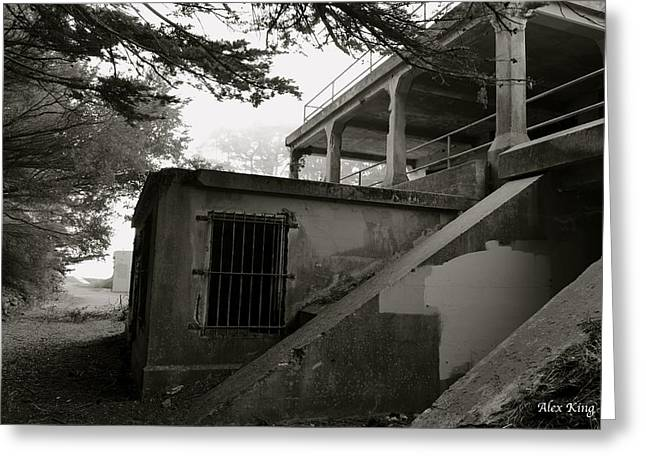 Greeting Card featuring the photograph World War II Bunker by Alex King
